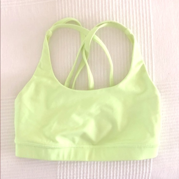 3f4386e483 lululemon athletica Other - Lululemon sports bra in pale neon yellow sz S
